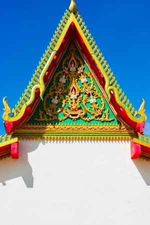 Temple roof of Thailand at sky photo