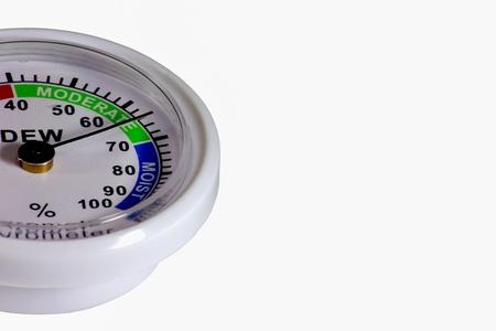 humidity gauge: Moisture Scale hygrometer Stock Photo