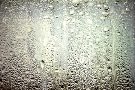 Drops water glass for background pattern Stock Photo