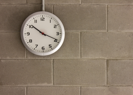 clock analog Wall background running Stock Photo
