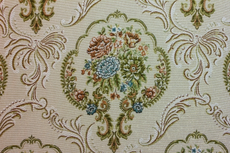 Embroidery Fabric flower photo