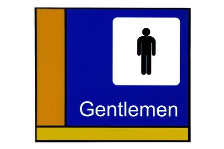 excrete: Bathroom label for gentlemen