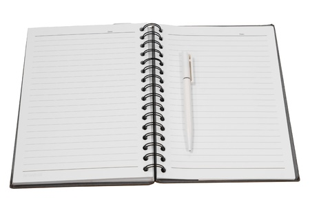 note book paper diary and work Stock Photo - 15157742