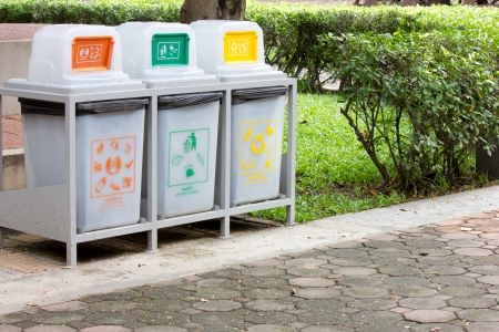 large Recycle bin for clean Stock Photo