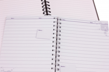note book paper diary and work Stock Photo - 15249950