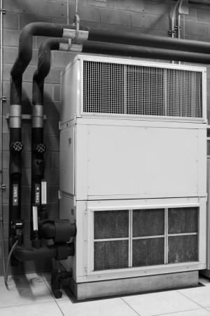 duct: Aire acondicionado construcci�n Foto de archivo