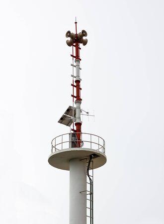 Sky solar cell Alert pole at sea photo