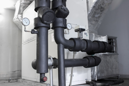 Pipe Refrigerator concrete cooling photo