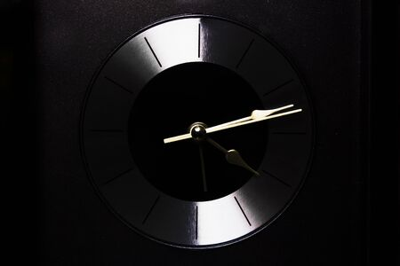 Clock modern design running Stock Photo