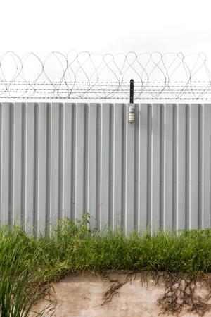 tresspass: Zinc Fence Barb high security Stock Photo