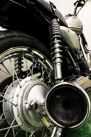 harley davidson motorcycle: vintage Motorcycle detail Stock Photo