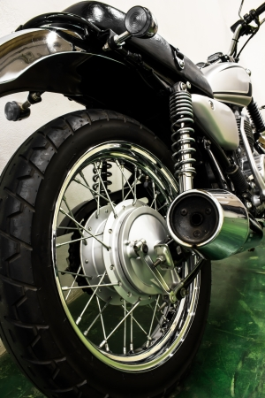 vintage Motorcycle detail Stock Photo