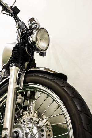 vintage Motorcycle detail photo