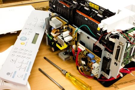 office equipment: Printer Scanner office equipment  Electronics Board Stock Photo