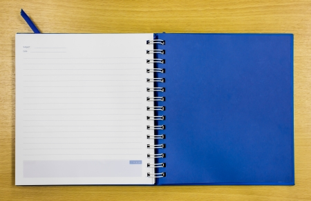 blue diary book on table office Stock Photo - 16163807