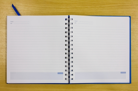 blue diary book on table office Stock Photo - 16163799