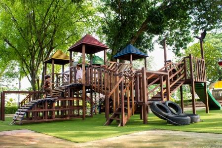 children playground: ni�os Escaleras Diapositivas equipo Foto de archivo