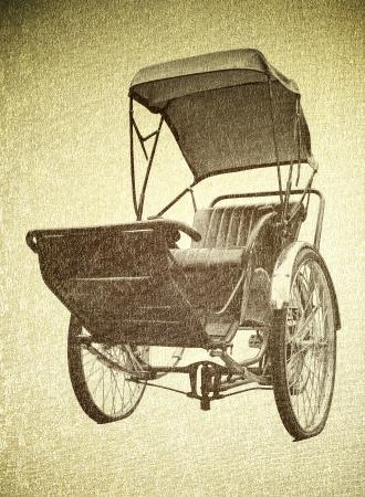 trishaw: Rickshaw travel transport old pattern vintage
