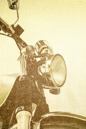 harley davidson: pattern vintage Motorcycle detail