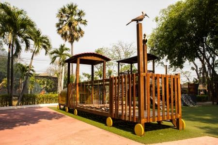 children Stairs Slides exercise equipment in garden photo