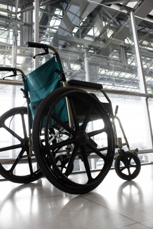 Wheelchair service in airport terminal photo