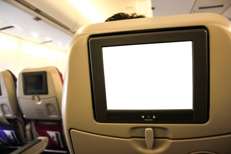 interior of the passenger airplane Stock Photo