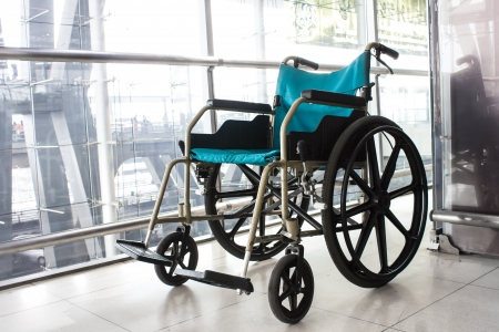 Wheelchair service in airport terminal Stock Photo - 19308894