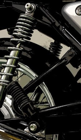 poster style vintage Motorcycle detail photo