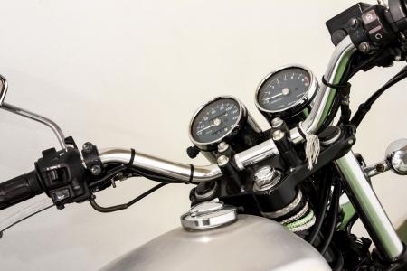 vintage Motorcycle detail Imagens