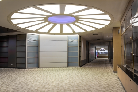 modern building futuristic interior