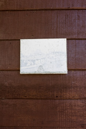 old Picture frame on wooden photo