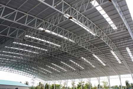 carpark metal roof structure photo