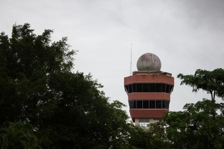 meteorology: Meteorology Weather tower Stock Photo