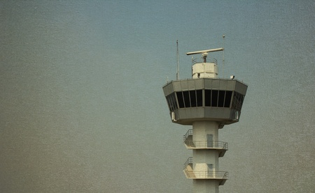 Air Traffic Control Tower vintage background