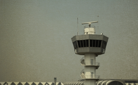 Air Traffic Control Tower vintage background photo