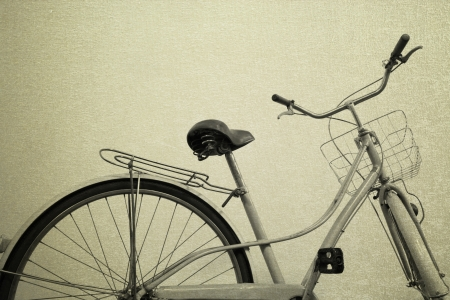 vintage bicycle old background photo