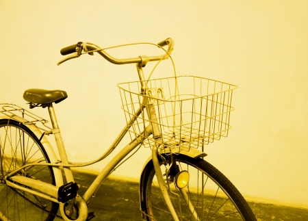 vintage bicycle color tone technique by program photo