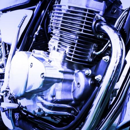chrome man: vintage Motorcycle color tone technique by program