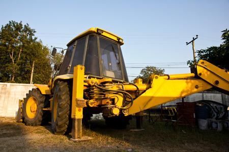 EXCAVATOR industry construction machine working photo