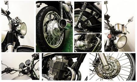 chrome man: vintage Motorcycle detail Stock Photo