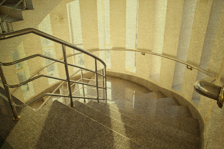 vintage picture modern staircase in building hotel photo