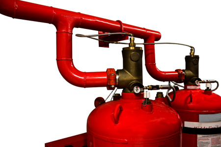 fire extinguishing: Save selection clipping path The valve of system of a gas fire extinguishing