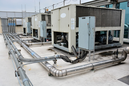 Plumbing for HVAC Air Conditioner