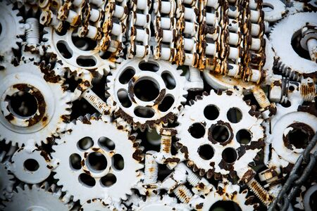 interlocked: Equipment Metal background Stock Photo