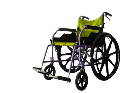 invalidity: Save clipping path, colorful Wheelchair service in airport terminal