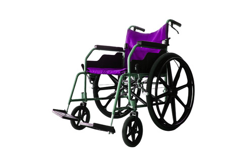 disablement: Save clipping path, colorful Wheelchair service in airport terminal