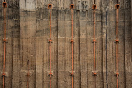 hoover dam: Concrete wall pattern of the Hoover Dam Stock Photo