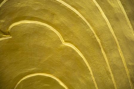 Gold carp scales statue