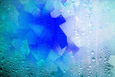 gocce di acqua: Gocce di vetro acqua colorato per sfondo modello