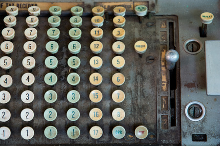 telegrama: Tax-calculadora antigua antigüedades Foto de archivo